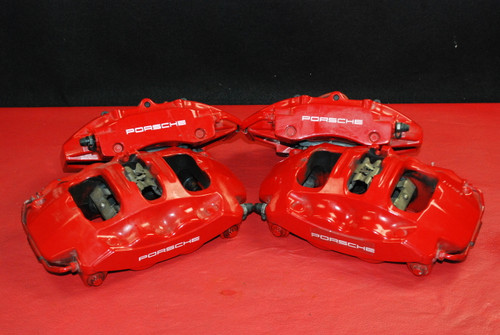 Porsche 911 997 Carrera Brake Calipers Set Brembo Big Red OEM
