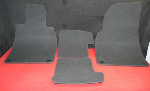 Porsche 911 991 Carrera 981 Boxster Black Floor Mats Set 4 Front Rear Carpet Rug