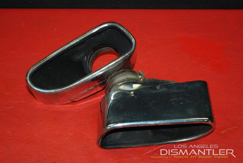 Porsche 911 997 Turbo Chrome Exhaust Tips Tail Pipe Left Right Pair OEM Boysen