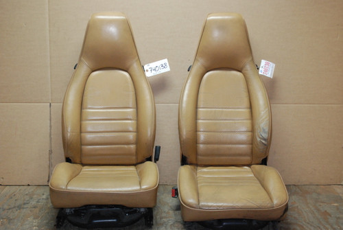 Porsche 911 964 Carrera Tan Perforated Leather Seats 12x12 way power OEM