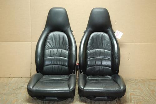 Porsche 911 993 Carrera Seats Black Supple Leather 12x12 way