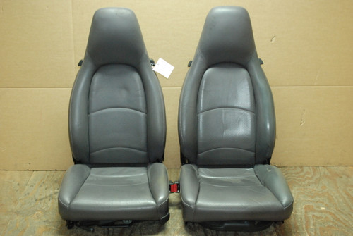 Porsche 911 993 Carrera Seats Grey Perforated Leather 4x8 way OEM