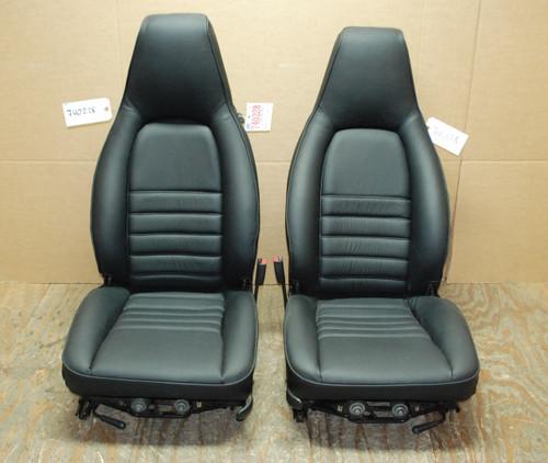 Porsche 911 964 Carrera Black Perforated Leather Seats OEM