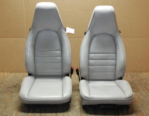 Porsche 911 964 Carrera Seats White Leather 4x8 way power OEM