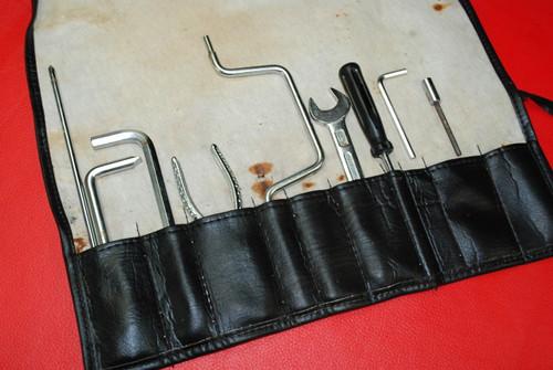 Porsche 911 993 Targa Carrera Tool Kit 9 Pieces + Vinyl Tool Bag Factory OEM
