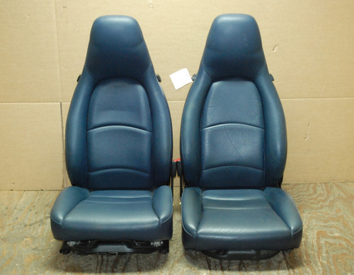 Porsche 911 993 Carrera Seats Blue Perforated Leather 8x12 way power