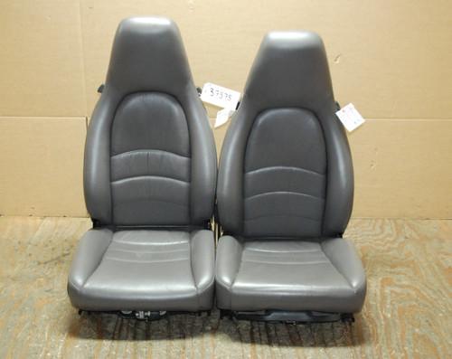Porsche 911 993 Carrera Seats Grey Supple Leather 4x4 way power OEM.
