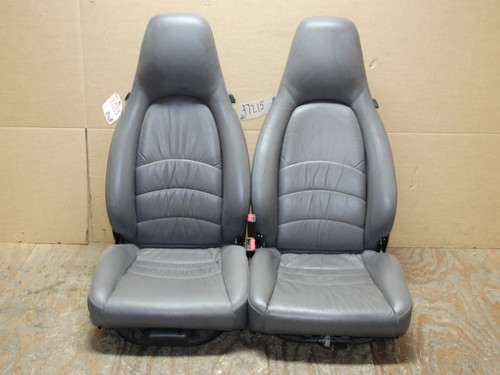 Porsche 911 993 Carrera Seats Grey Supple Leather 8x8 way power OEM