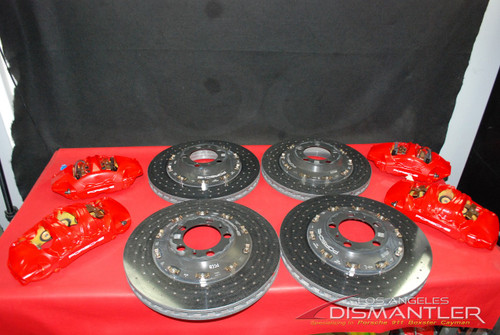 Porsche 911 991 GT3 GT3RS PCCB Ceramic Brakes Calipers Rotors Complete Set OEM
