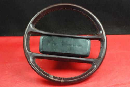Porsche 911 930 964 Carrera Classic Steering Wheel 4 Spoke Brown Leather OEM.
