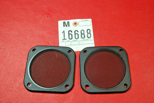 Porsche 911 964 993 928 Square Speaker Cover Grilles rear panel door L R