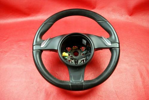 Porsche 991 911 981 Boxster Cayman PDK Steering Wheel Black Leather Carrera