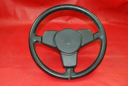 911 930 Porsche 3 Spoke Leather Steering Wheel Fatty Grip 1974-1984 OEM RARE