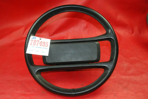 Porsche 911 930 Carrera Steering Black Leather Wheel OEM 1985