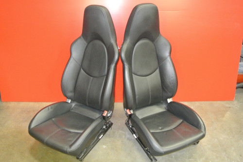 PORSCHE 911 997 TURBO GT3 CAYMAN BOXSTER FACTORY HARD-BACK SPORT LEATHER SEATS