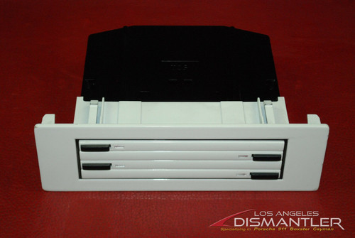 Porsche 911 996 Carrera Center Console CD Holder Storage Box White Disc Shelf