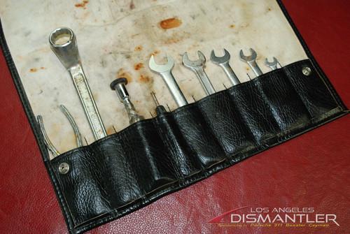 Porsche 911 964 Carrera 89-94 Tool Kit 9 pieces + Leather Tool Bag Factory OEM