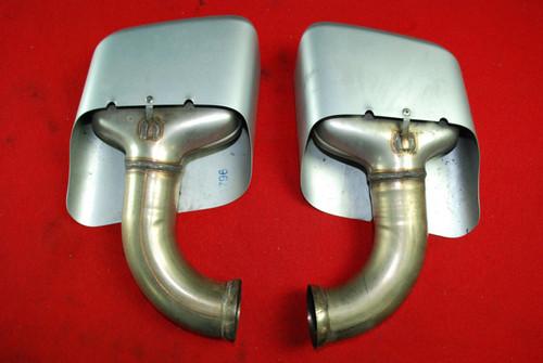 Porsche 958 Cayenne 2011-14 Left Right Pair Exhaust Muffler Tips 7P5.253.682