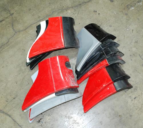 Porsche 911 964 Rocker Panel shark fin Corner triangle Sill Cover Right Passenger side.  [Some Damage]