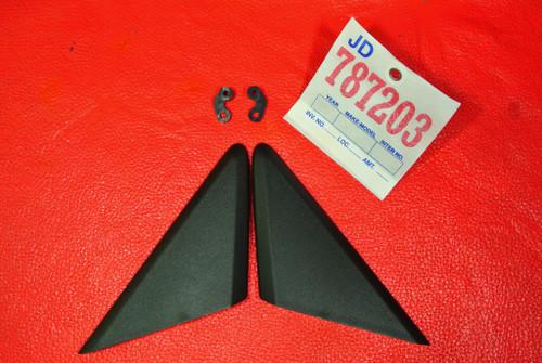 PORSCHE BOXSTER 981 SPYDER LEFT & RIGHT EXTERIOR DOOR TRIM TRIANGLE