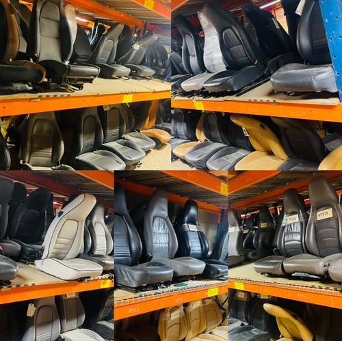 Porsche Seats front rear belts receptacles make female