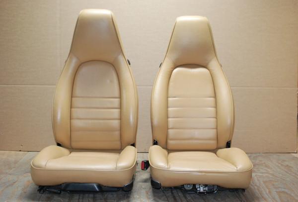 Porsche 911 964 Carrera Tan Sand Beige Leather Seats LEFT RIGHT Factory OEM