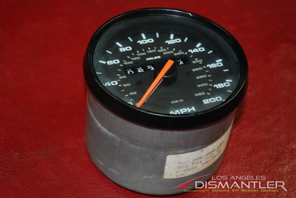 Porsche 911 993 Turbo VDO Speedo Speedometer Black Face Gauge OEM 99364154700