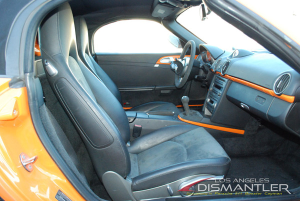 Porsche 911 987 Cayman Boxster Carrera Alcantara Front Seats Leather & Suede OEM