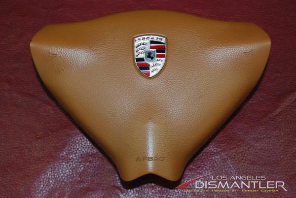 Porsche 911 996 986 Boxster Steering Wheel Airbag Brown 99680308902 T11 OEM