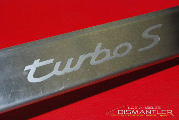 Porsche 993 TURBO S Stainless Steel Door Sill, Entry Guard Trim, Step Plate, Very RARE