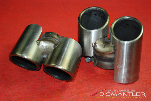 Porsche 911 997 Carrera Dual Exhaust Tips Tail Pipe Left & Right Gillet