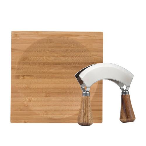 Hachoir Herb Cutter & Chopping Board Chopping Board Set Garlic Chopper