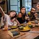 Bamboo Serviette Holder Napkin Dispenser Kitchen Dining Room Table Decor