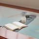 Eco-Friendly Slimline Bamboo Bath Bridge Rack Caddy Shelf- Grey