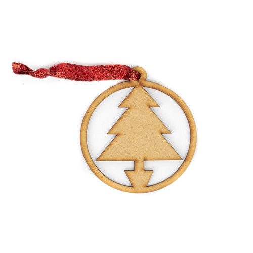 Christmas Tree Wood Christmas Ornament