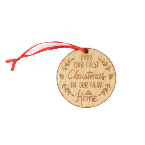 Our First Christmas In Our New Home Wood Christmas Ornament