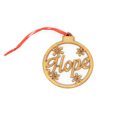 Hope Wood Christmas Ornament