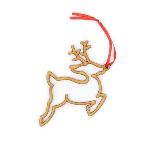 Reindeer Wood Christmas Ornament