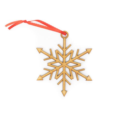 Snowflake Wood Christmas Ornament