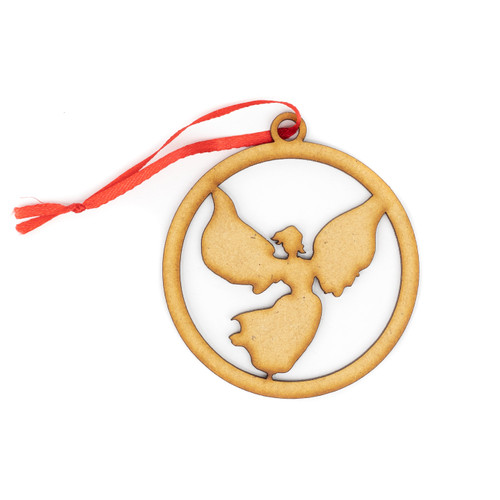 Angel Wood Christmas Ornament