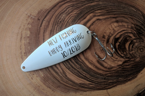 New Fishing Buddy Arriving Fishing Lure Fishing Pregnancy Announcement
