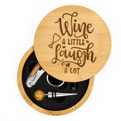 Wine A Little Laugh A Lot Wine Tool Set
