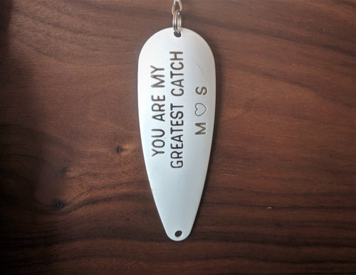 Personalized You Are My Greatest Catch w/ Initials Fishing Lure