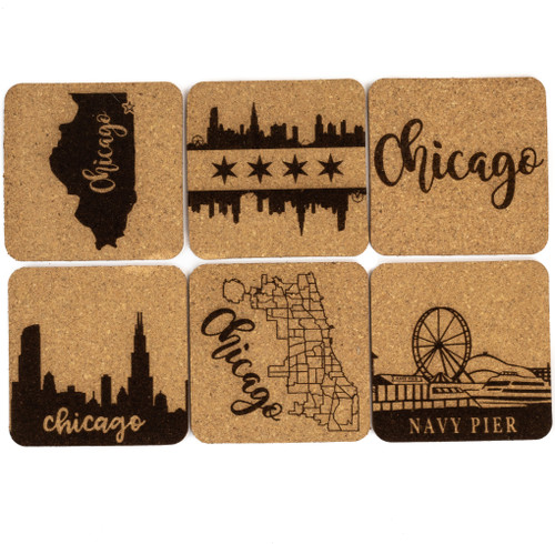 Chicago Cork Coaster Set