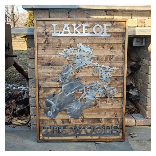 Lake Of The Woods - Large Metal & Wood Sign