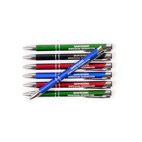 Personalized Custom Text Metal Pens Business Bulk Wholesale Baum Designs