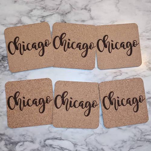 Chicago Cork Coasters
