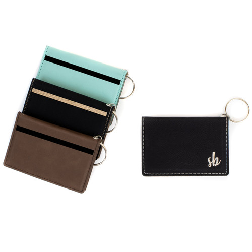 Personalized Monogram Keychain ID Wallet