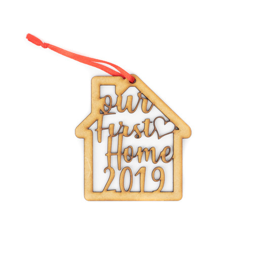 Our New Home 2019 Wood Christmas Ornament