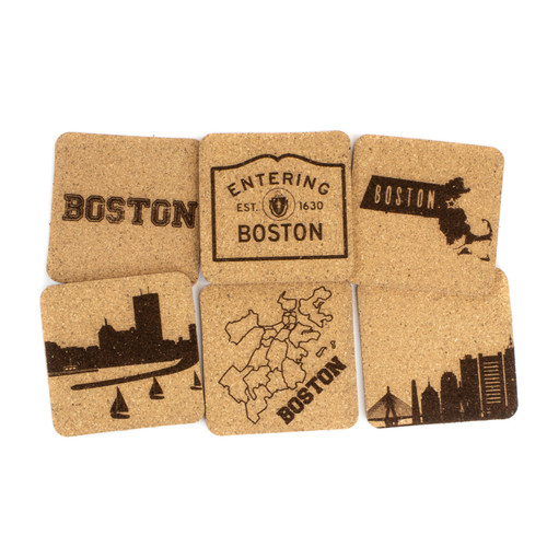Boston Cork Coaster Set